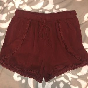 Red Soft Shorts